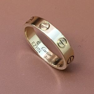 Cartier Rose Gold 18k 750 Love Band Ring Size 49